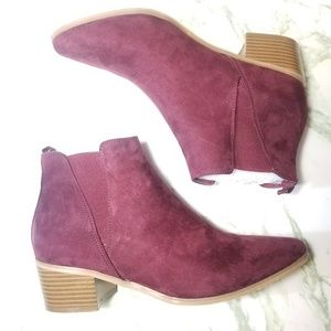 Maroon ankle booties size 9